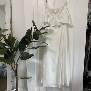 Forever 21 Off the Shoulder White Maxi Dress